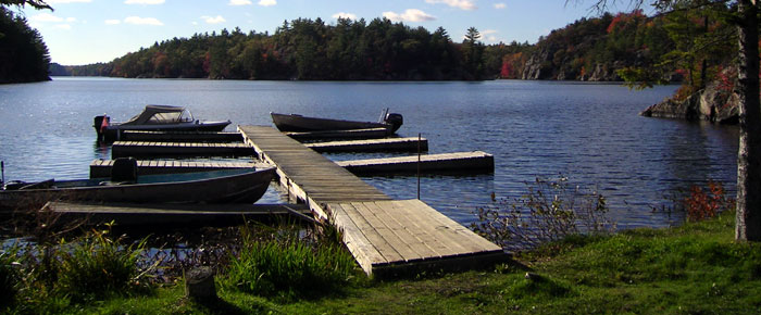 Pic of boat dock on Long Lake